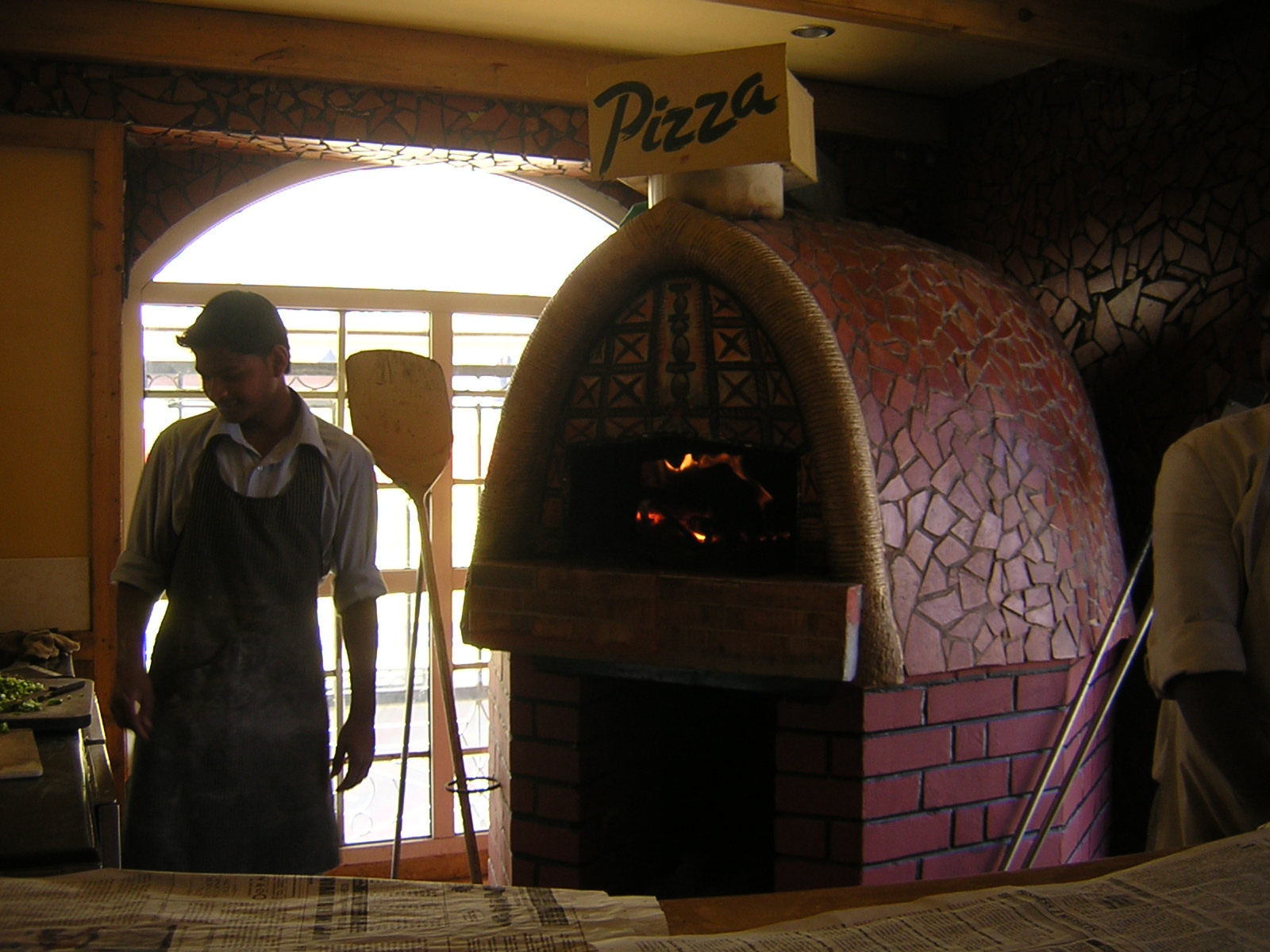 Wood fired pizza at the Coffee Shop in Nahar, Charing Cross, Ooty