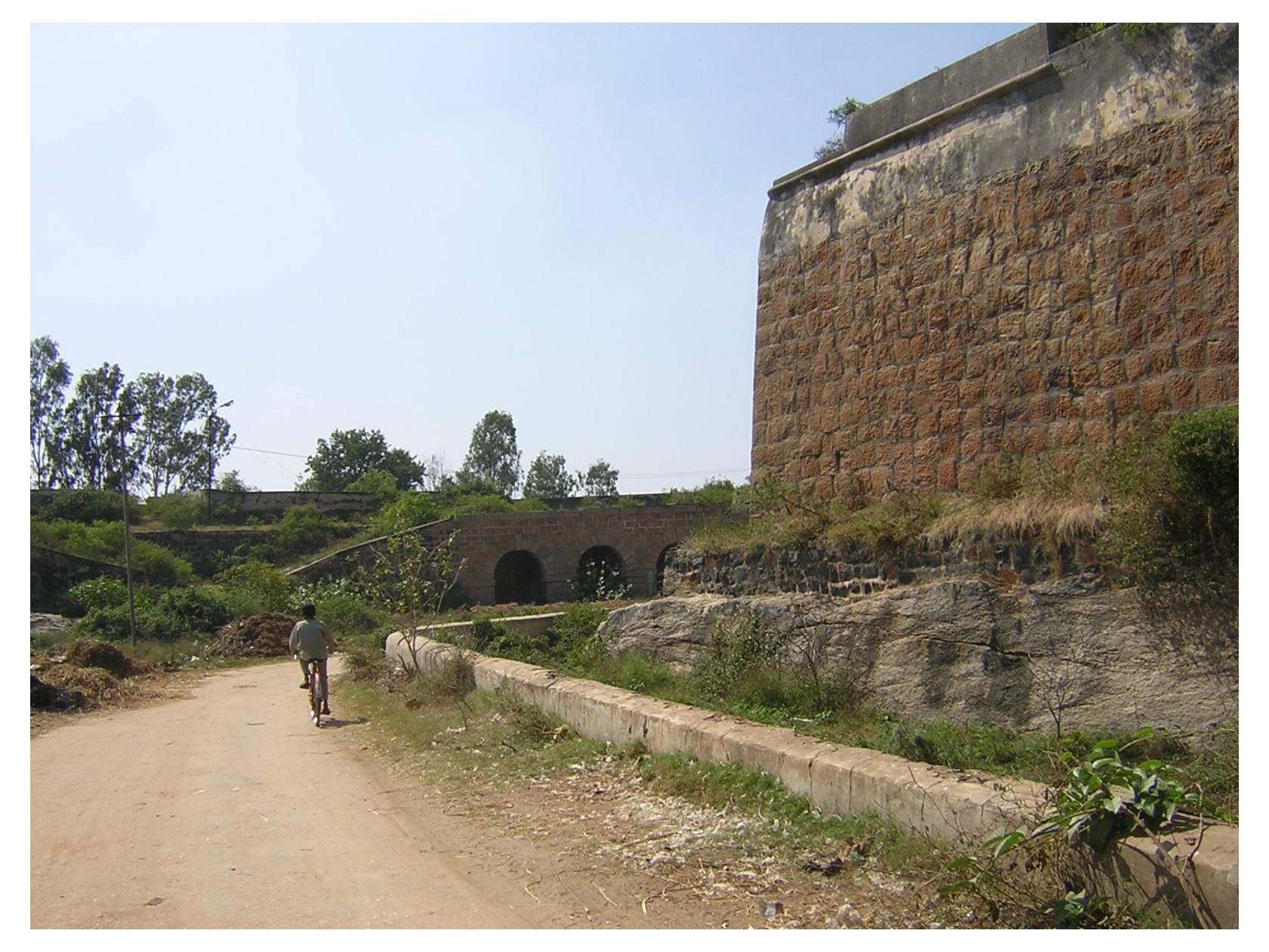 Outer wall of Srirangapatna