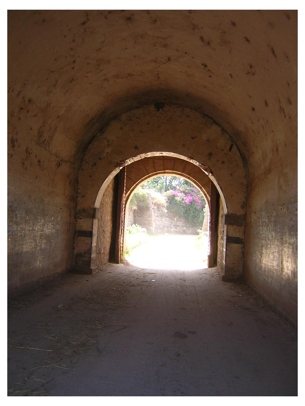 The roads in and out of the temple area of Srirangapatna go through these tunnels - through the outer periphery wall. Shows the security of the fort in olden times.